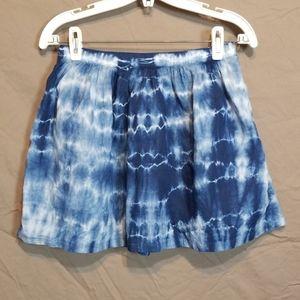 Madewell Tye Dye Zip Up Mini Skirt
